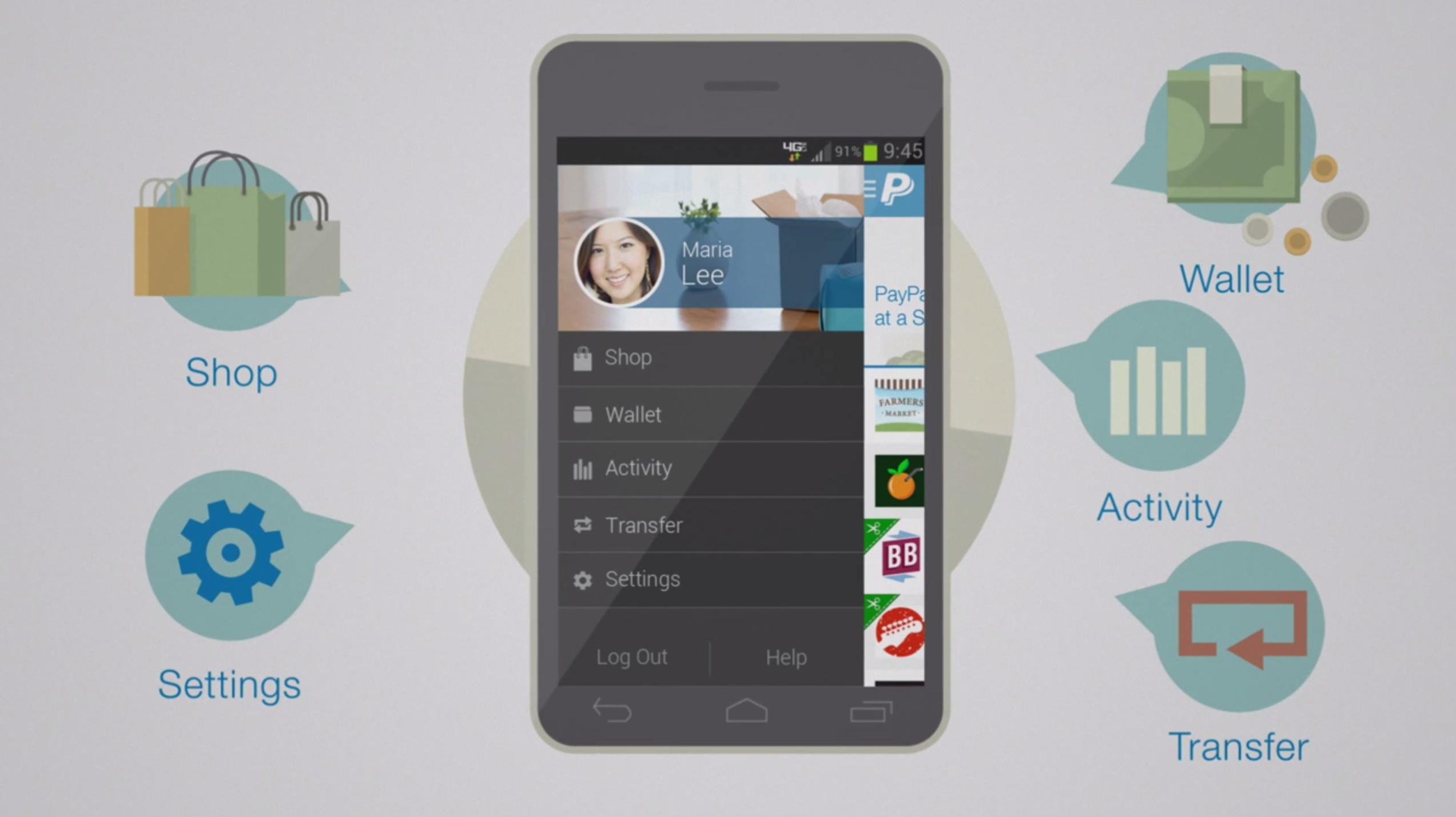 Paypal presenta la nuova app per iphone con design for App per design
