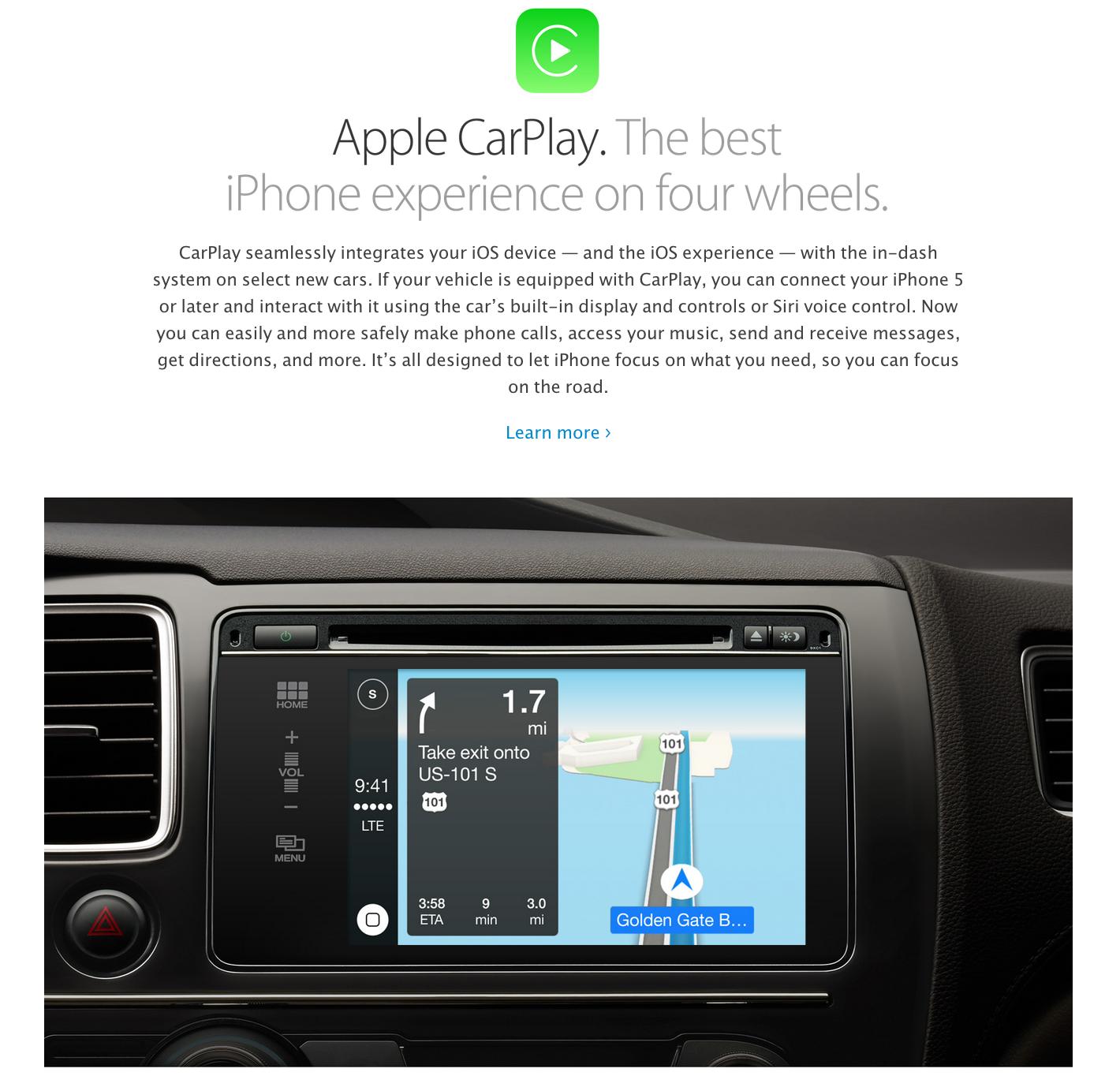 Apple presenta CarPlay e offre agli automobilisti un modo più intelligente, sicuro e divertente ...
