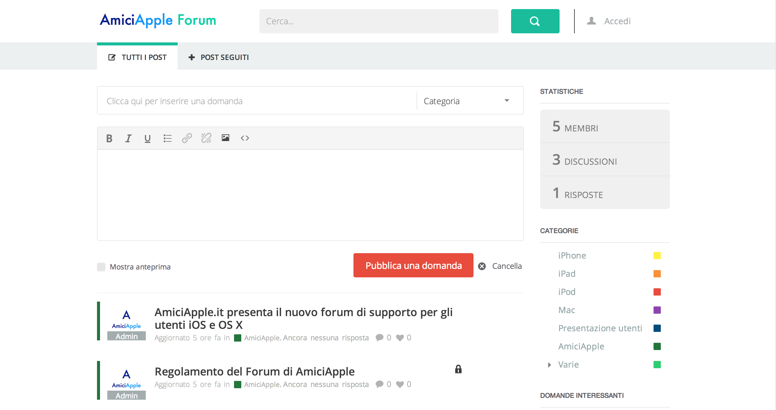 AmiciApple Forum Home