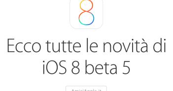 Novità iOS 8 beta 5