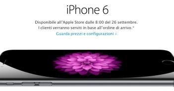 iPhone 6 26 settembre