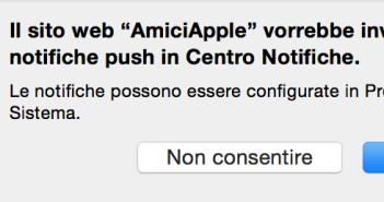 Notifica push mac