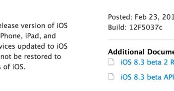 iOS 8.3 beta 2