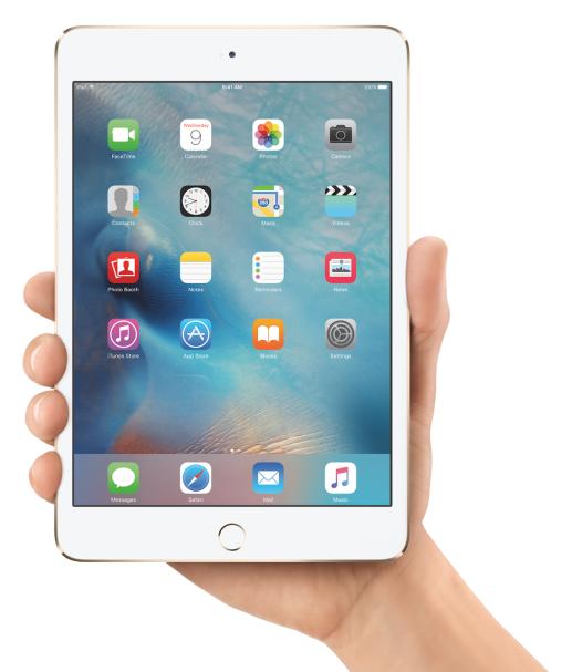 iPad mini 4 + iOS 9