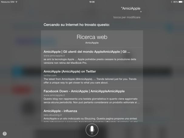 AmiciApple Siri