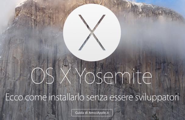 Guida OS X Yosemite AmiciApple