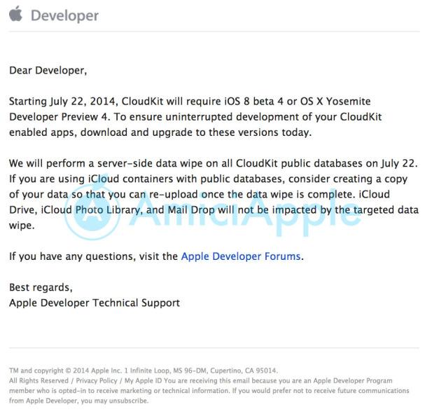 Apple Developer e-mail
