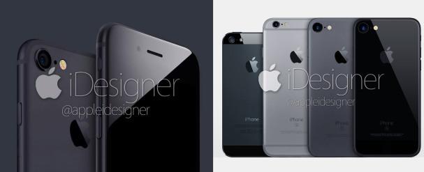 """Concept della colorazione """"Space Black"""" su un ipotetico iPhone 7 - Fonte: @appleidesigner"""