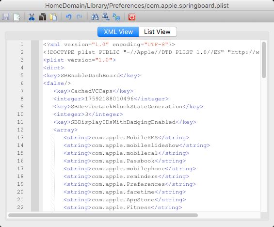 com.apple.springboard.plist edited slide to unlock ibackupbot