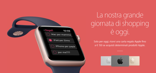 carta regalo apple store black friday 2016